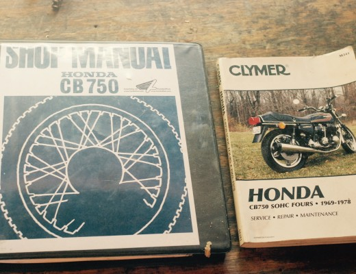 CB750 Shop and Clymer's Manual