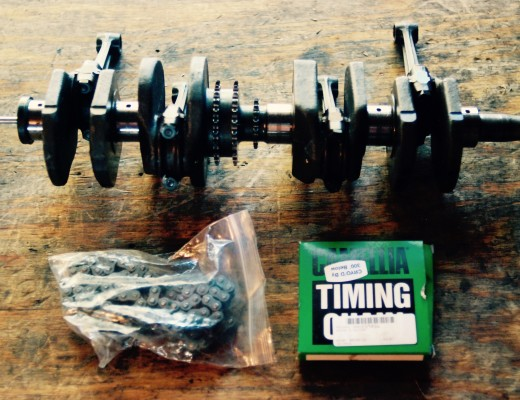 1975 Honda CB750 Crankshaft, Primary, and Timing Chains